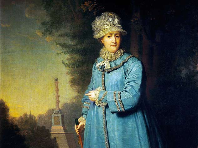 Екатерина II на прогулке. Автор – В. Боровиковский. 1794 г.