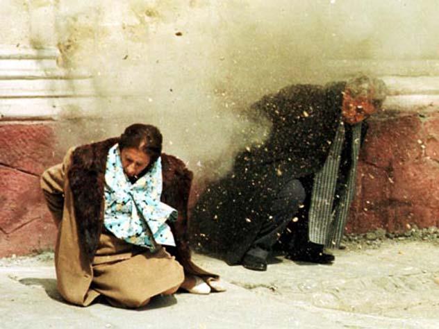Fotografia lui Nicolae și Helena Ceausescu, 25 decembrie 1989.  Executarea lui Ceaușescu / wikipedia