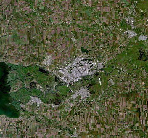 Вид на Ростов-на-Дону из космоса, NASA. Источник: wikimedia.org