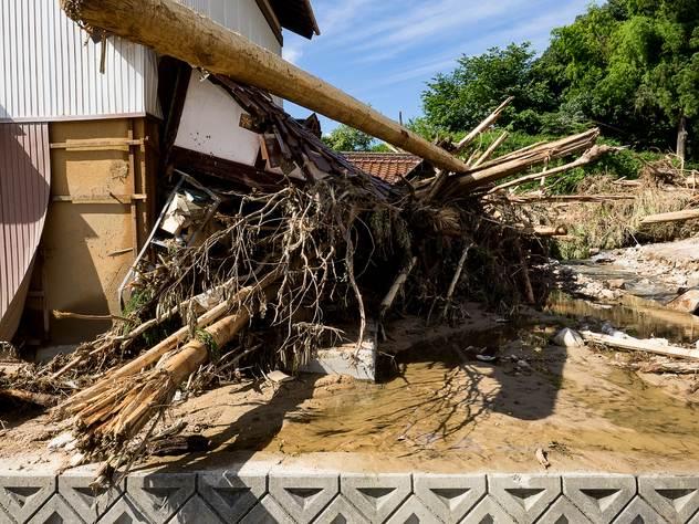 Сильнейшее наводнение разгромило чудесные ландшафты Японии.