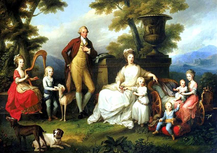 Спасенная Эммой семья Фердинанда IV и королевы Марии-Каролины Австрийской