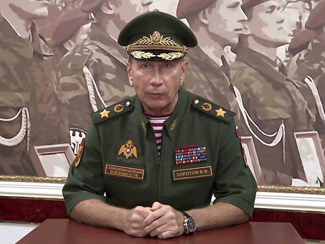 Виктор Золотов провел переговоры с «террористом» на Васильевском спуске