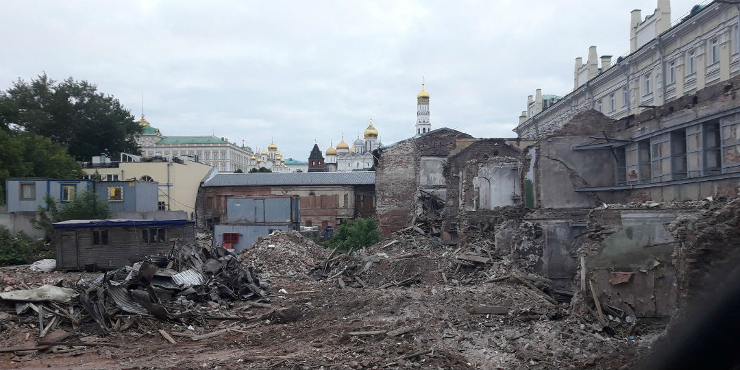 Снесенные здания у Кремля