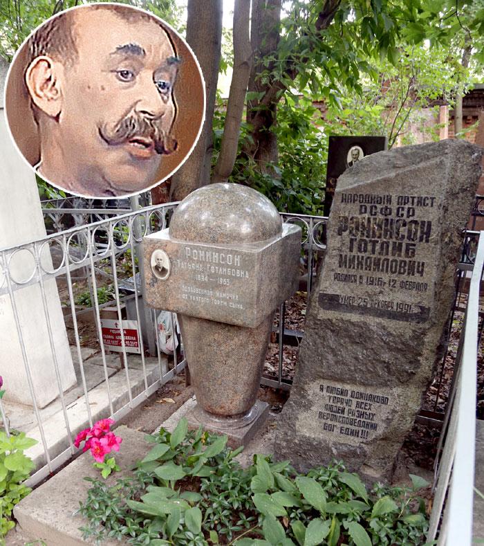 Готлиб упокоился рядом с мамой на Введенском кладбище