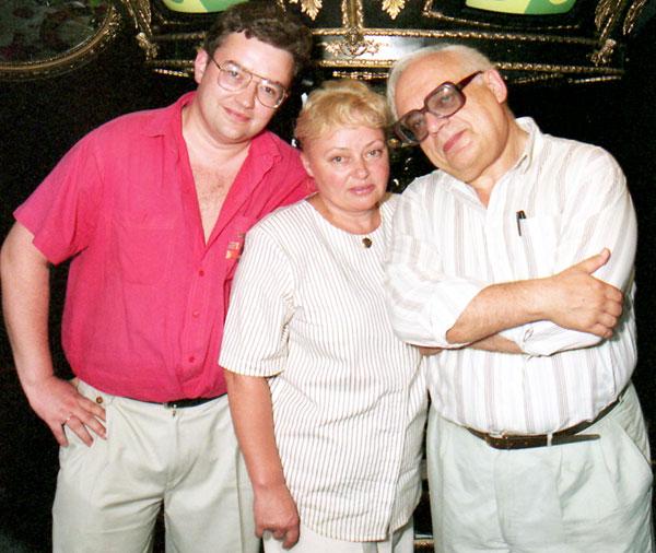 Борис Крюк, нынешний ведущий ЧГК, его мама Наталья Стеценко и «великий и ужасный» Владимир Ворошилов
