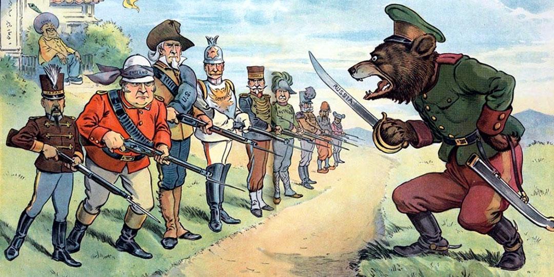 Нашу страну враги всегда представляли в виде дикого медведя