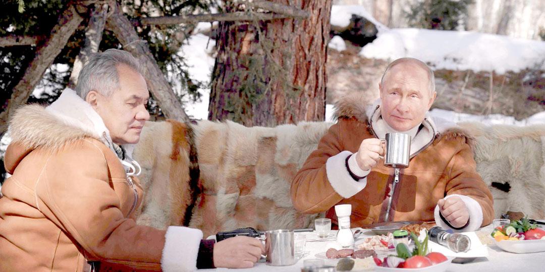 Владимир Путин вместе с министром обороны РФ Сергеем Шойгу посетили Южную Сибирь